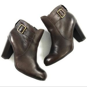 Liz Claiborne Womens Ankle Boots Booties Brown 7.5